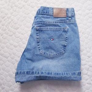 Tommy Hilfiger mom denim shorts high rise waist 4